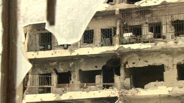 Libya - damaged building