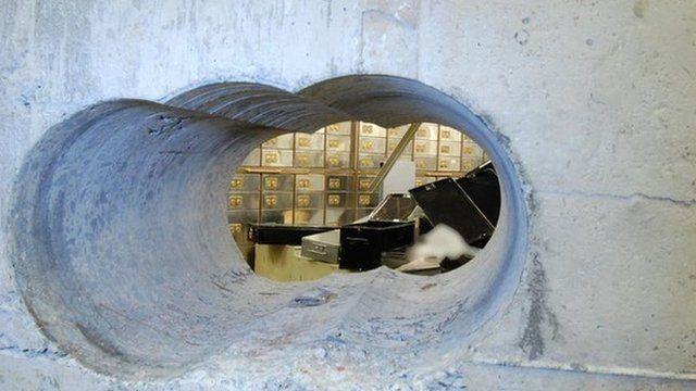 Hatton Garden drill hole