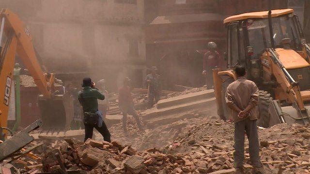 Kathmandu square reduced to rubble