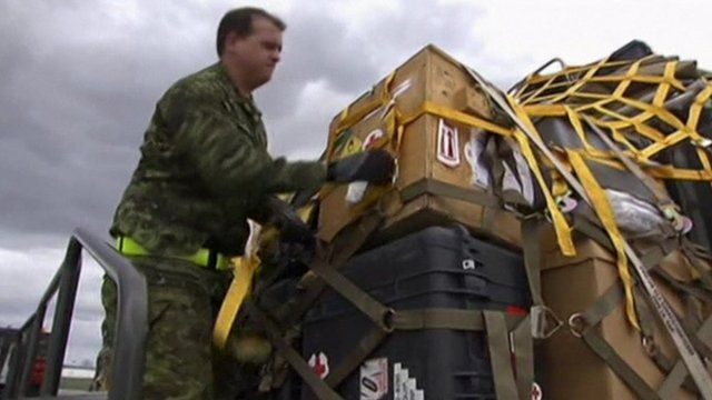 Aid being sent to Nepal
