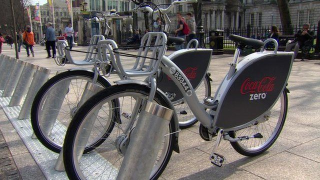 The bike share scheme includes 300 public bikes, and up to 30 bike docking stations in the city centre, but some had technical difficulties