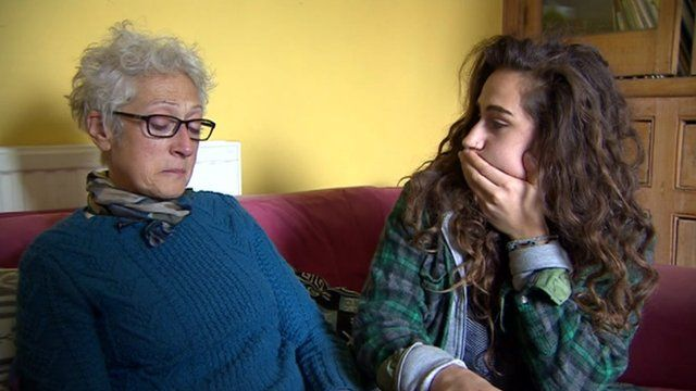 Judy and Nina Ross from Bath await news of family member Susannah