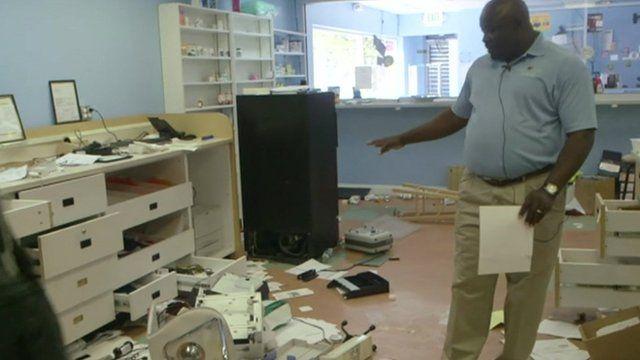 Ransacked pharmacy