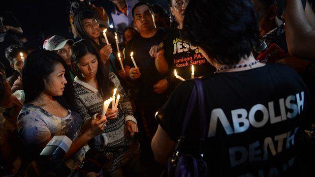 vigil in Cilacap