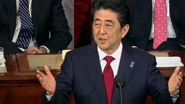 Japanese Prime Minister Shinzo Ab