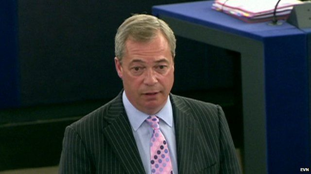 Nigel Farage speaking on immigration in the European Parliament