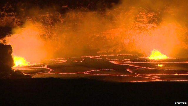 lava lake at the Kilauea volcano