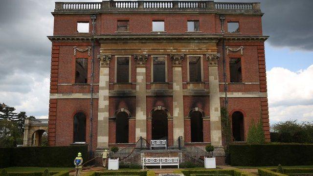 The exterior of Clandon Park House