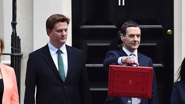 Danny Alexander and George Osborne on Budget Day 2015