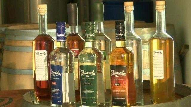 Takamaka rum bottles