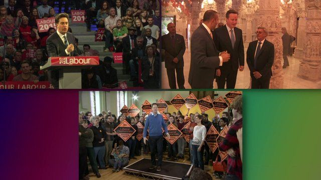Montage of party leaders