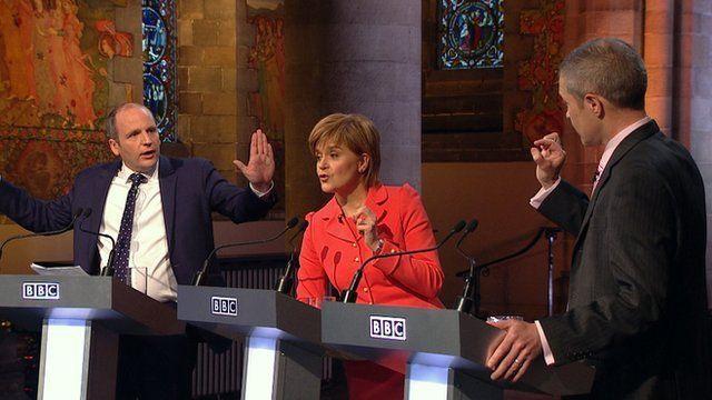 Glenn Campbell. Nicola Sturgeon and Willie Rennie