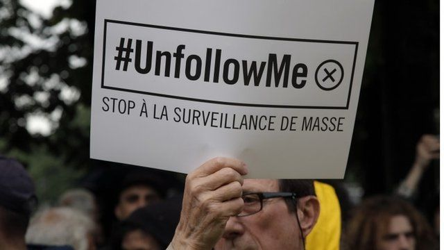 Protests against France's extension of surveillance bill