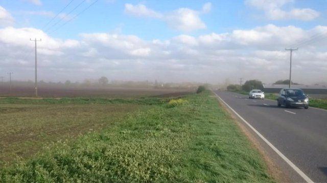 Fen Blow in Mepal, Cambridgeshire