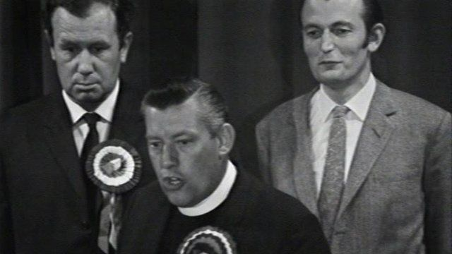 Ian Paisley at 1970 election announcement