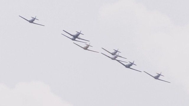 Aircraft flying in formation
