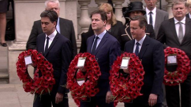 Ed Miliband and Nick Clegg, who resigned as leaders of Labour and Lib Dems, joined the prime minister