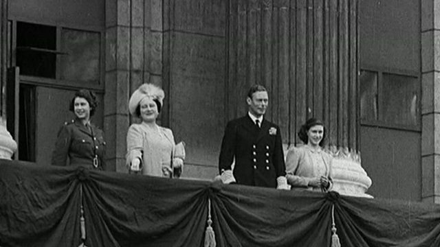 The Royal family on VE day