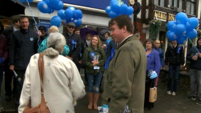Conservative activists campaigning in Whitchurch, Cardiff