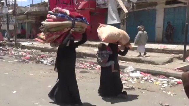 Yemenis fleeing Saada