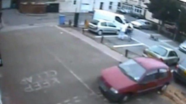 CCTV images of the crash
