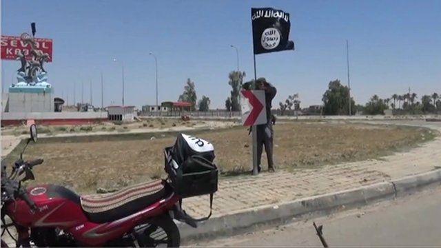 IS flag in Ramadi