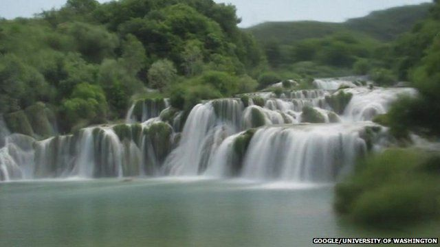 Still from timelapse video of Krka Falls, Croatia, created by computer science researchers at the University of Washington