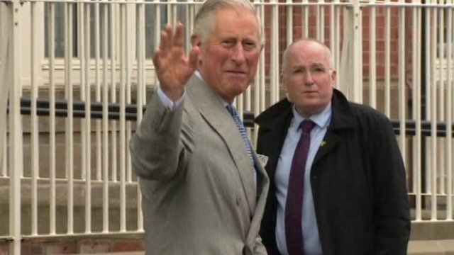 The Prince of Wales visited a community centre in east Belfast