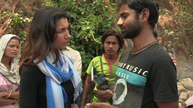 Yalda Hakim speaks to a survivor of the Nepal earthquakes