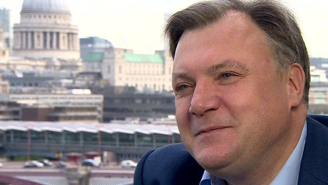 former shadow chancellor Ed Balls