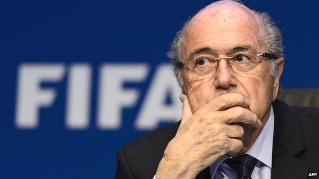 Sepp Blatter holds a news conference