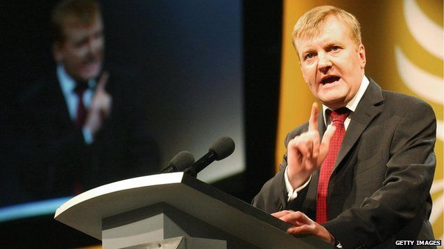 Charles Kennedy speaking at a conference in 2004