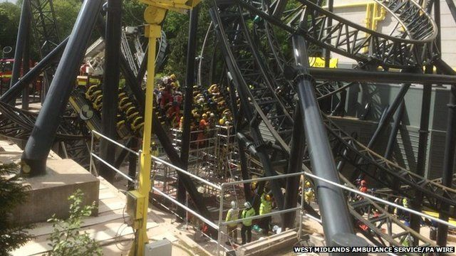 Social media image of Smiler rollercoaster at Alton Towers