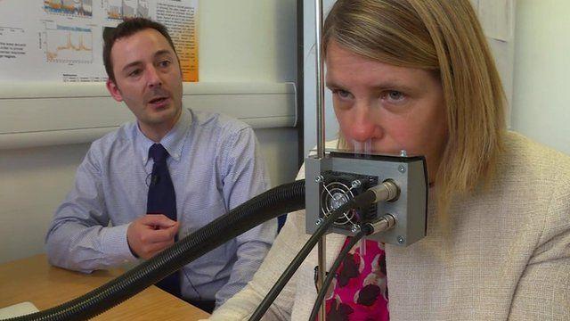 Fake nose being tested