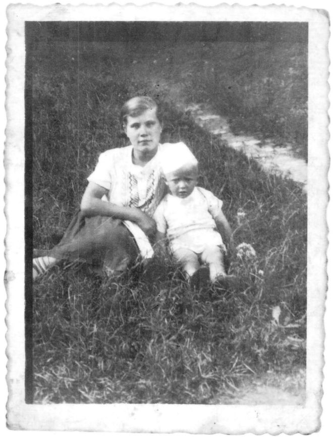 With her cousin in 1938, her final peaceful summer before the invasion of Poland by Hitler and Stalin