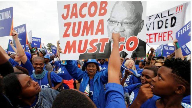 Maandamano ya kumng'oa mamlakani rais Zuma yaanza Afrika Kusini