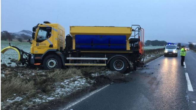 Gritter crash