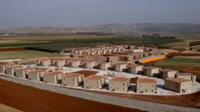 Aerial view of Orphans City in south-eastern Turkey