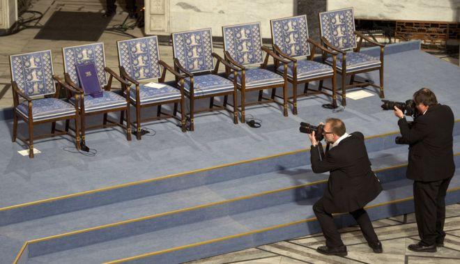 劉曉波2010年獲得諾貝爾和平獎。