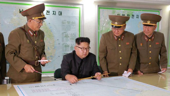 金正恩和朝鮮將軍們