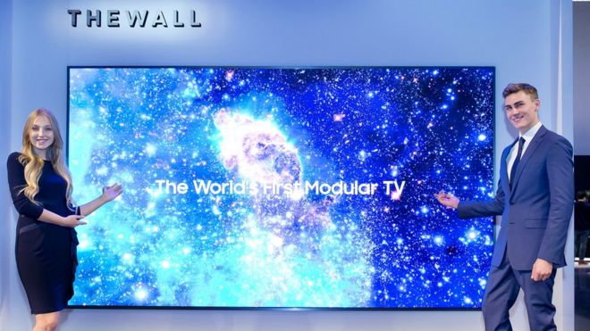 Samsung's  the wall modular tv