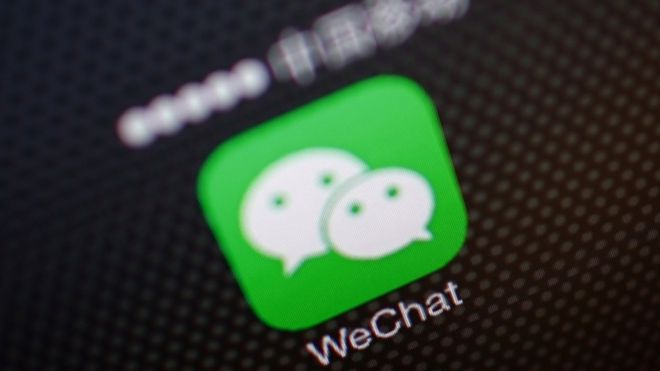 A picture illustration shows a WeChat app icon in Beijing, December 5, 2013.