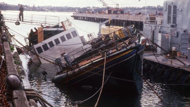 Today in history� secret agents sink Greenpeace ship