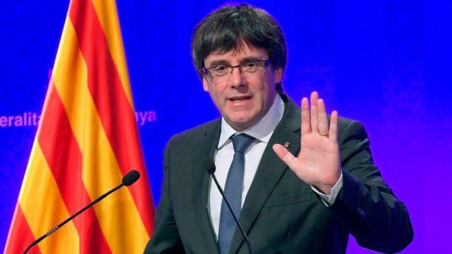 El presidente de Cataluña, Carles Puigdemont asegura que declararán la independencia de España