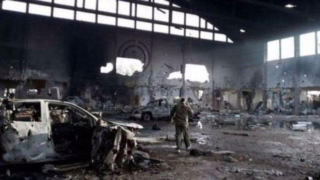 پایگاه تی-۴ سوریه پس از حمله اسرائیل
