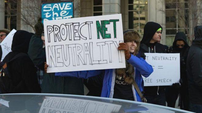 聯邦通訊委員會的決定惹來示威
