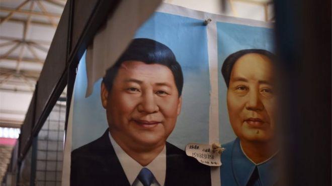 習近平與毛澤東的相片