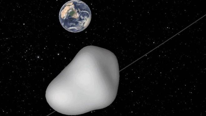 Illustration of asteroid 2012 TC4
