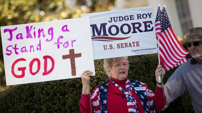 Roy Moore supporter