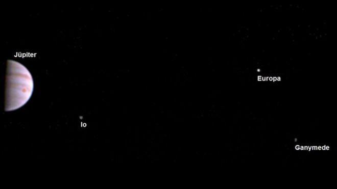 NASA'nın uzay aracı Juno Jüpiter'in yörüngesinde